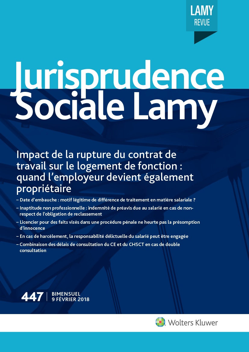 Jurisprudence Sociale Lamy N 447 Actualites Du Droit Wolters