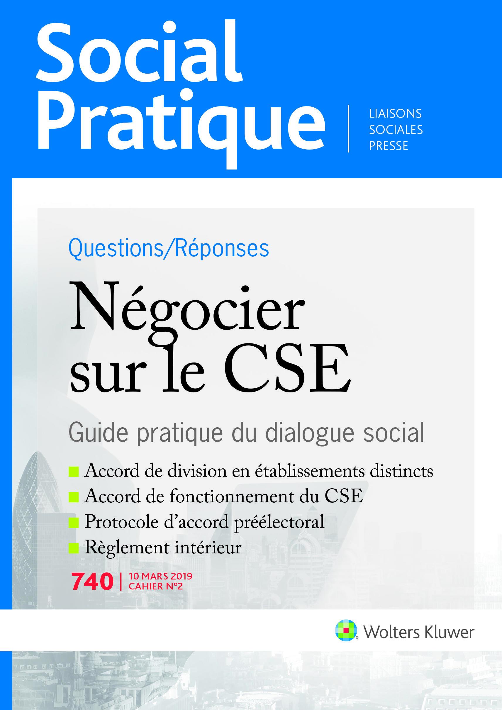 Vignette document Négocier sur le CSE. Guide pratique du dialogue social