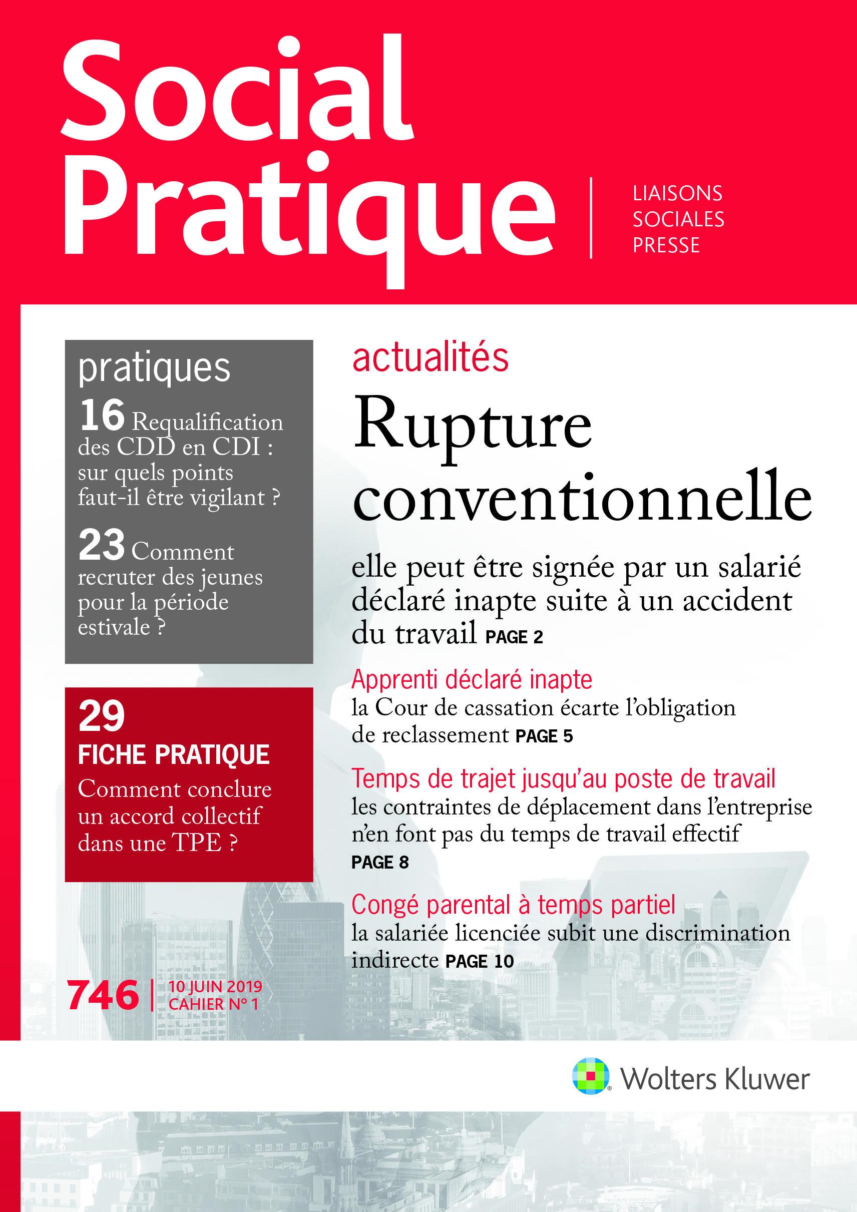 Social Pratique N 746 Actualites Du Droit Wolters